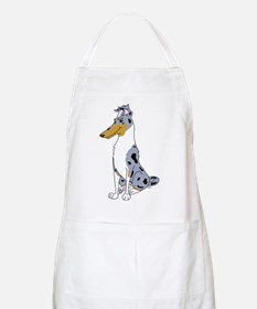 Smooth Blue Merle Collie BBQ Apron