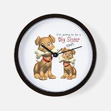 Funny Big sister dog Wall Clock