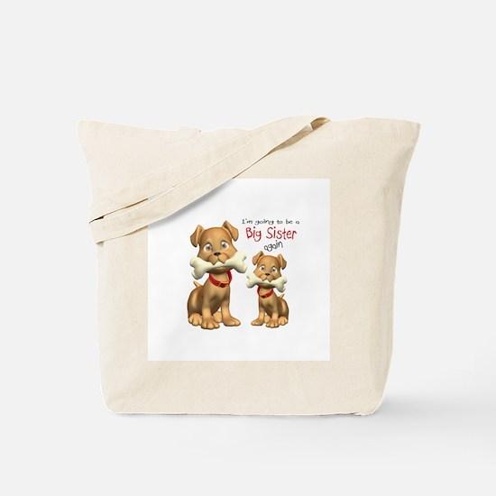 Funny Big sister dog Tote Bag