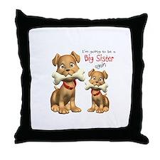 Cute Big sister again Throw Pillow