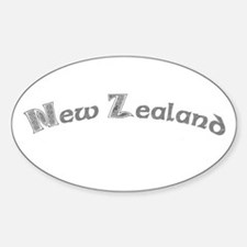 New Zealand Celtic Gray Oval Decal