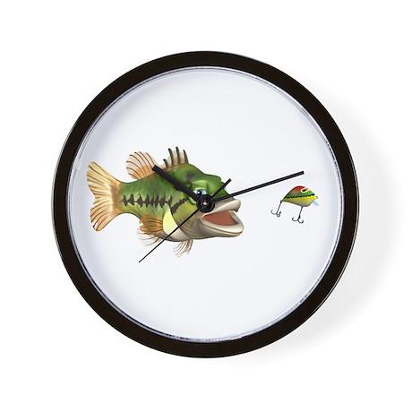 Fish and Lure Wall Clock