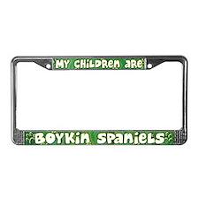 My Children Boykin Spaniel License Plate Frame