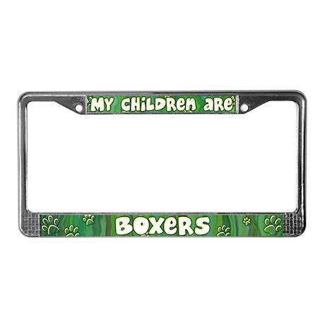 My Children Boxer License Plate Frame