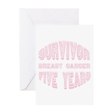 Survivor Breast Cancer Five Years Greeting Card