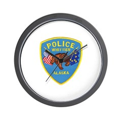 Whittier AK Police Wall Clock