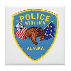 Whittier AK Police Tile Coaster