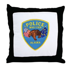 Whittier AK Police Throw Pillow