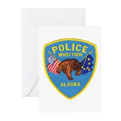 Whittier AK Police Greeting Cards (Pk of 10)