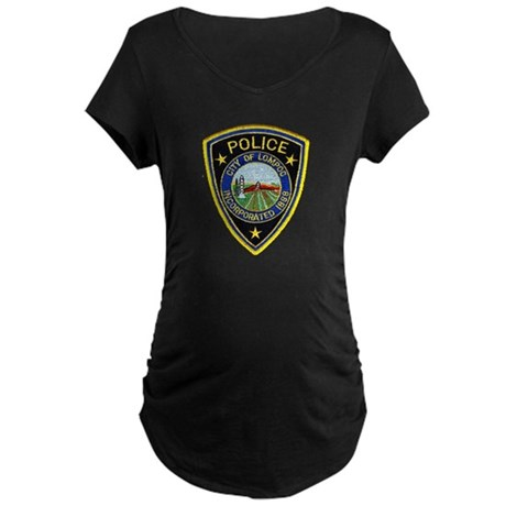 Lompoc Police Maternity Dark T-Shirt