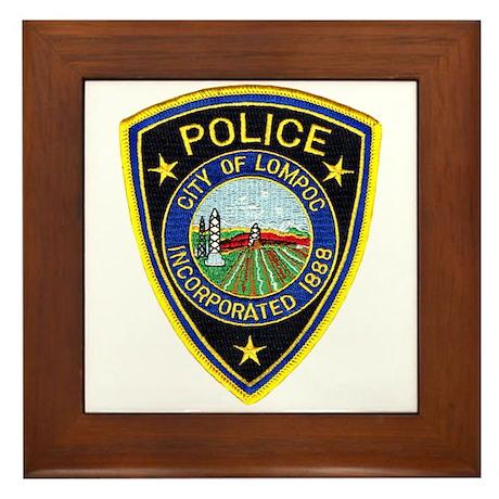 Lompoc Police Framed Tile