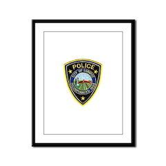 Lompoc Police Framed Panel Print
