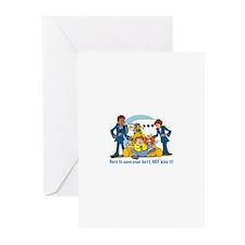 Cute Flight crew Greeting Cards (Pk of 20)