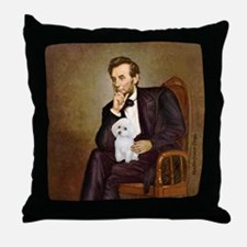 Lincoln/Poodle (W-Min) Throw Pillow