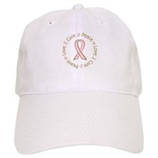 Peace Love Cure Breast Cancer Baseball Cap