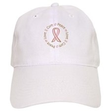 Peace Love Cure Breast Cancer Hat