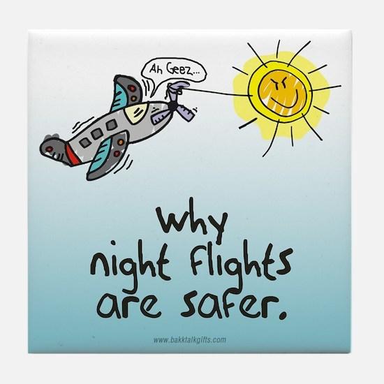 Night Flights... Tile Coaster