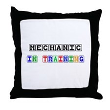 Mechanic In Training Throw Pillow