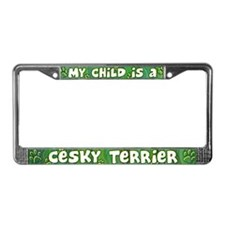 My Kid Cesky Terrier License Plate Frame