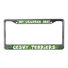 My Children Cesky Terrier License Plate Frame