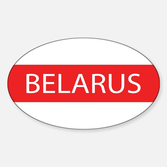 Belarus Full Name Oval Decal
