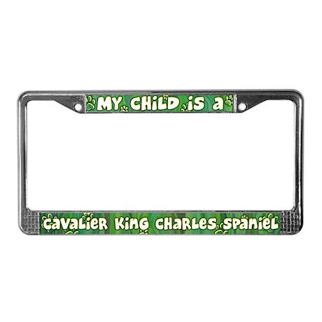 My Kid Cavalier King Charles License Plate Frame