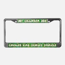 My Children Cavalier Spaniel License Plate Frame