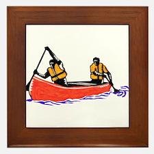 Canoeing Framed Tile