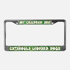 My Children Catahoula Leopard License Plate Frame