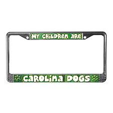 My Children Carolina Dog License Plate Frame