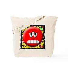 Angry Mood Smiley Tote Bag