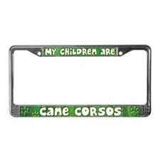 My Children Cane Corsos License Plate Frame