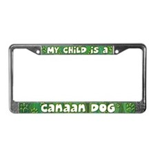 My Kid Canaan Dog License Plate Frame