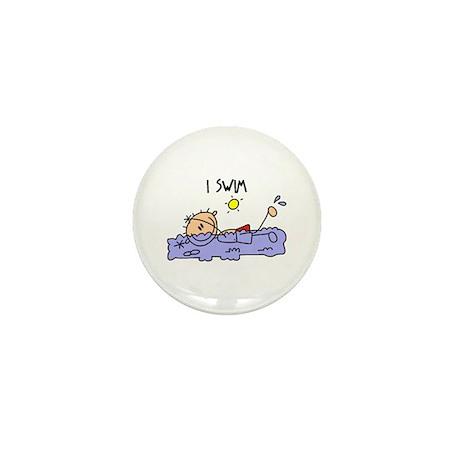 I Swim Mini Button (10 pack)