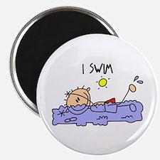 """I Swim 2.25"""" Magnet (10 pack)"""