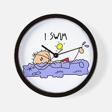 I Swim Wall Clock