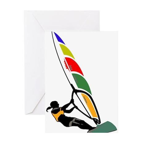 Windsurfer Colorful Greeting Card