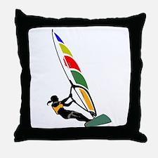 Windsurfer Colorful Throw Pillow