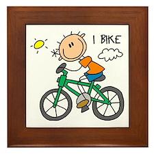 I Bike Framed Tile
