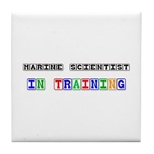 Marine Scientist In Training Tile Coaster