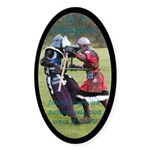 Natural selection Oval Sticker (50 pk)