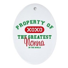 Property of Nonna Oval Ornament
