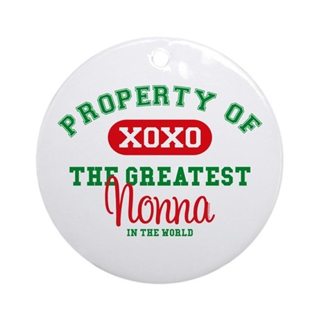 Property of Nonna Ornament (Round)