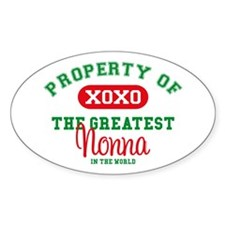 Property of Nonna Oval Decal