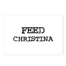 Feed Christina Postcards (Package of 8)