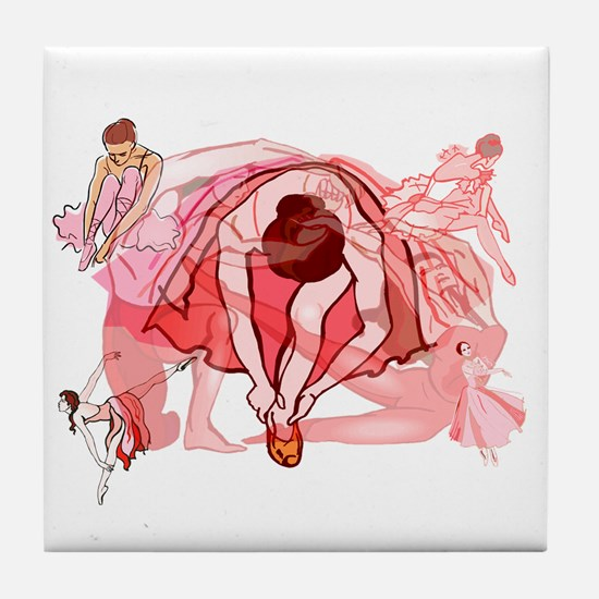Ballet Dancers Tile Coaster