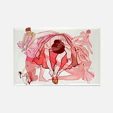 Ballet Dancers Rectangle Magnet (10 pack)