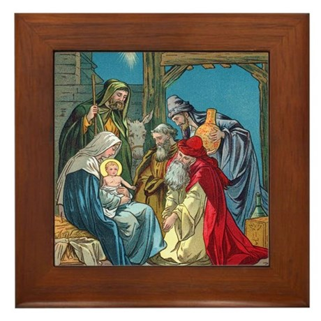 Wise Men visit Framed Tile