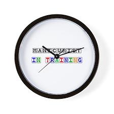 Manicurist In Training Wall Clock