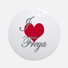 I love (heart) Freya Ornament (Round)
